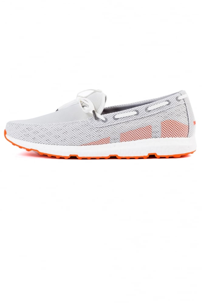 Swims Breeze Leap Laser Loafers Grey/White/Orange