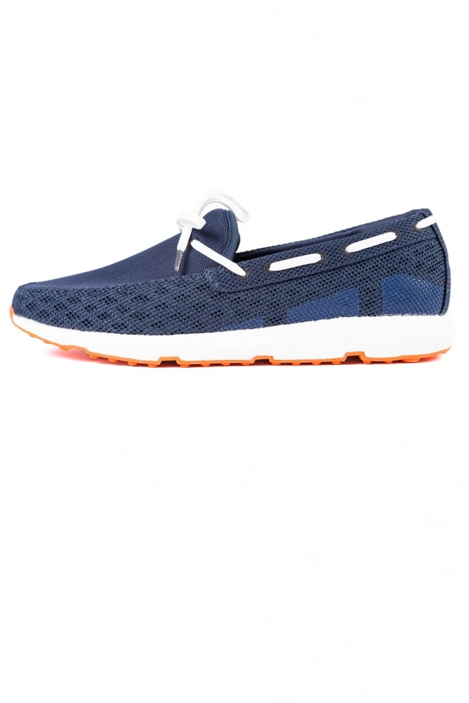 Swims Breeze Leap Laser Loafers Navy/White/Orange