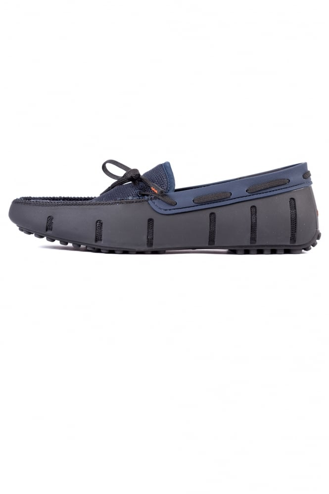 Swims Lace Loafers Driver Black/Navy