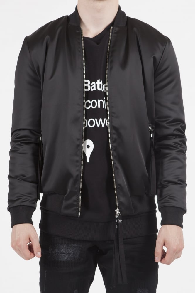 Blood Brother Sunsilk Logo Bomber Jacket Black