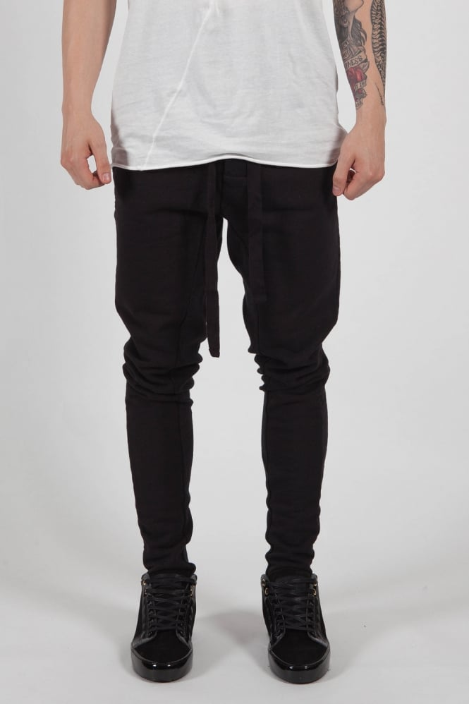 Thom Krom Ribbed Raw Edge Sweatpants Black