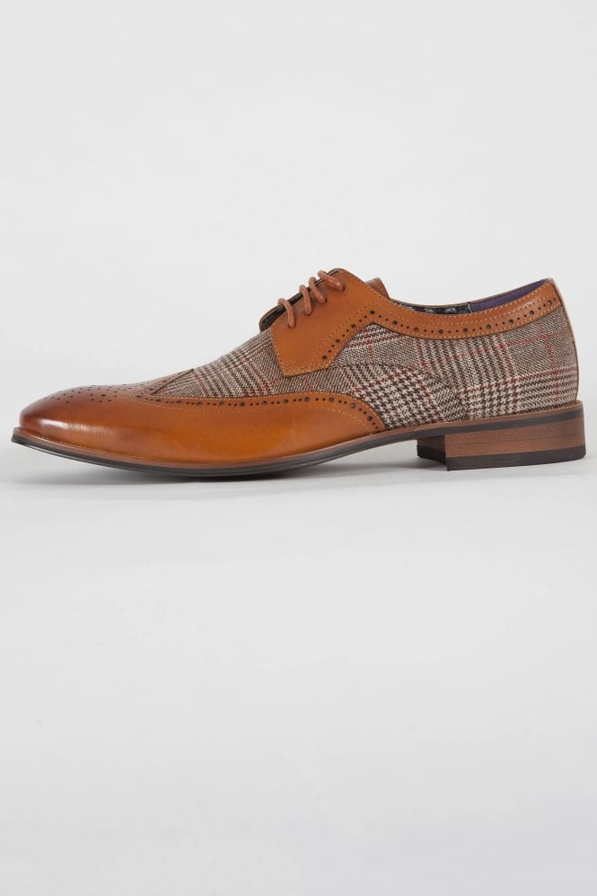Paolo Vandini Spencer Brogue Shoes Tan