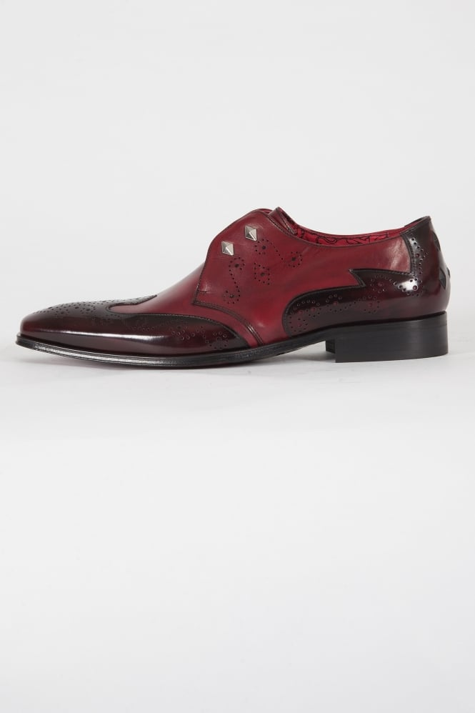 Jeffery West K024 Scarface College Shoes Burgundy
