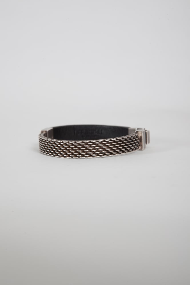 Northskull Nyaka Embroidered Tag Bracelet Grey/Aged Silver