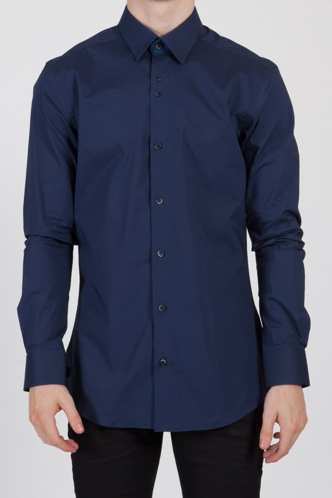 Remus Uomo Rome Ashton Slim Fit Shirt Navy