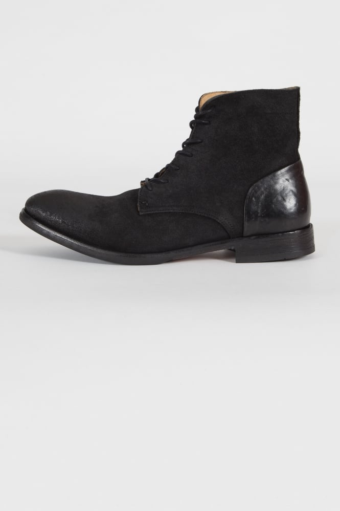 Hudson London Yoakley Lace Up Boots Black
