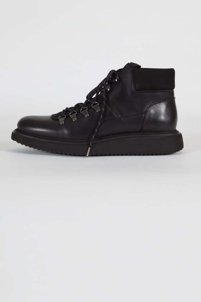 Hudson London Stange Hiking Boots Black