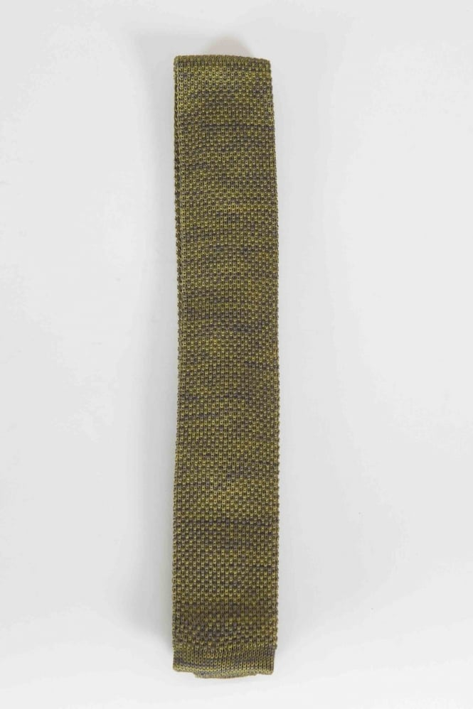 Gibson Smart Knitted Tie Green