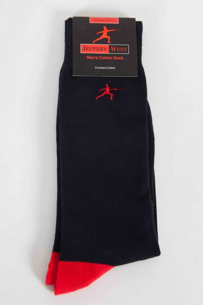 Jeffery West Fencing Socks Black