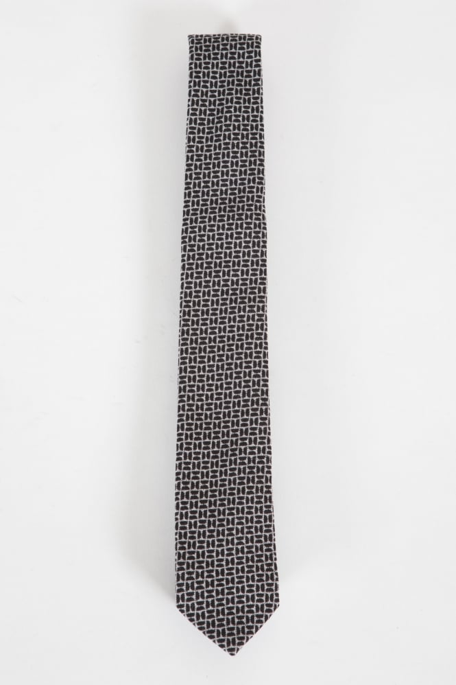 Remus Uomo Narrow Tie Grey/Black