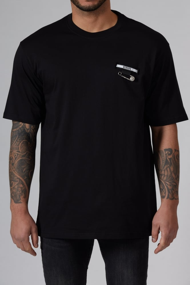 Versus Versace Safety Pin T-Shirt Black