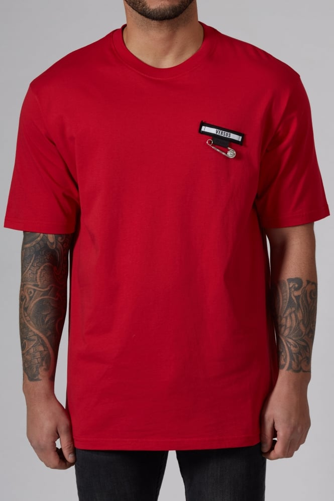 Versus Versace Safety Pin T-Shirt Red