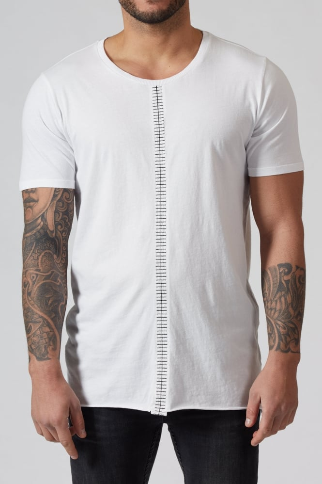 Thom Krom Front Stitched T-Shirt White