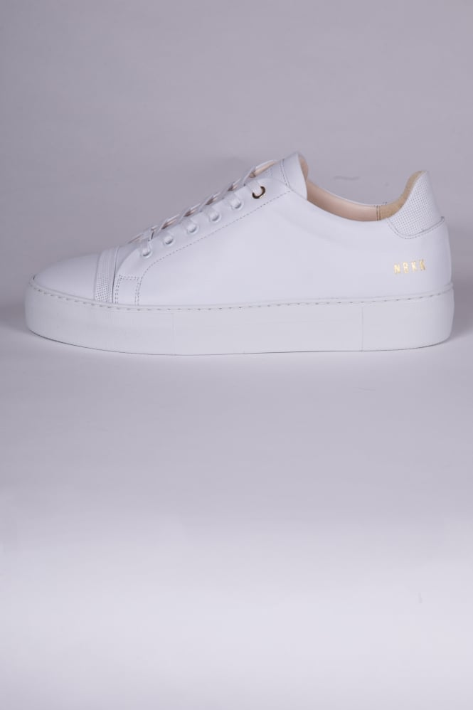 Nubikk Jagger Joe Leather Trainers White