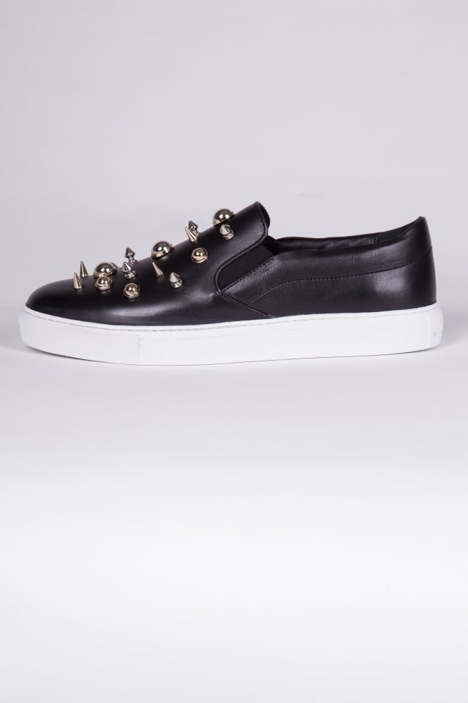 Versus Versace Spiked Slip-On Trainers Black
