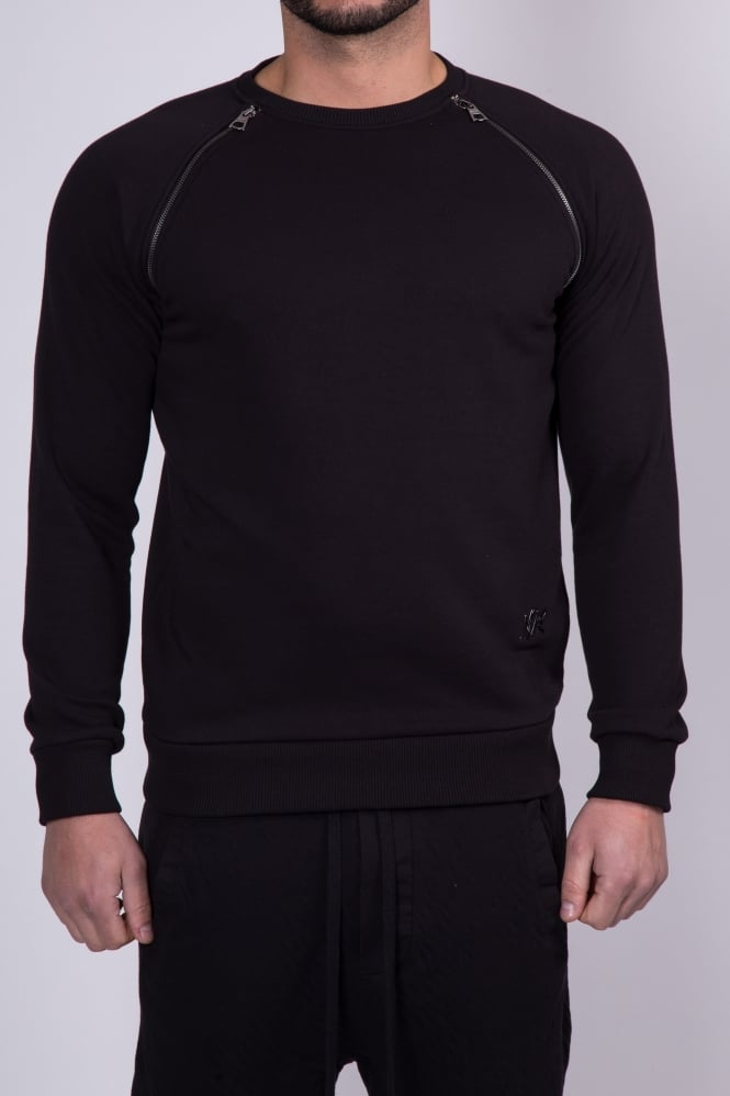 Societe Noir Crew Neck Sweatshirt Black