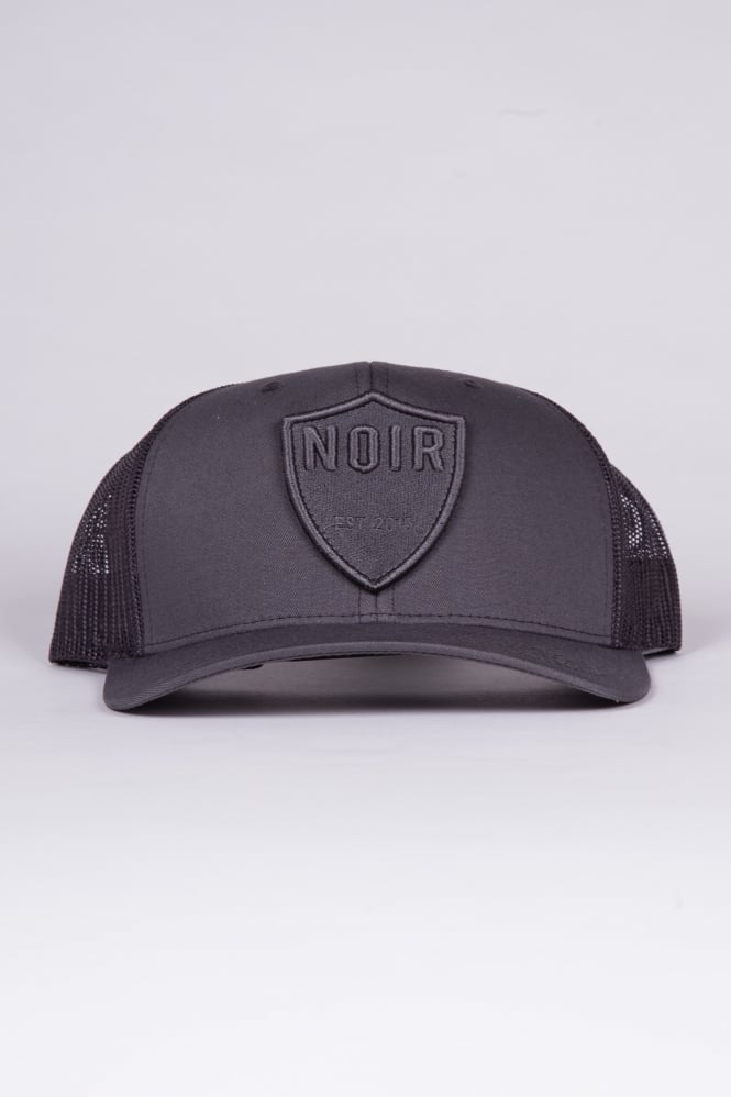 Societe Noir Shield Trucker Cap Charcoal/Charcoal