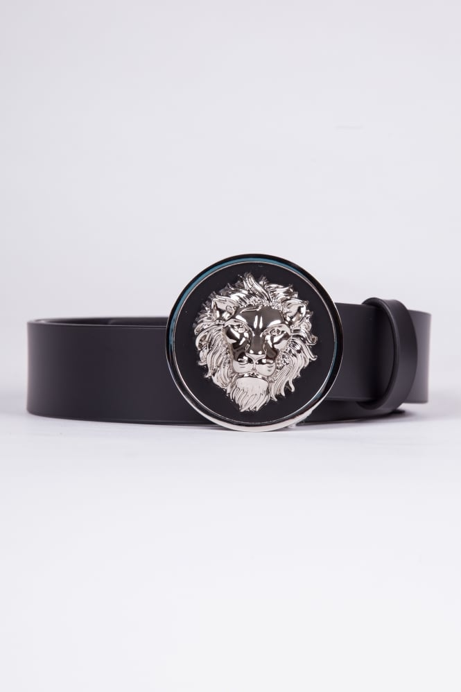 Versus Versace Lion Head Belt Black/Silver