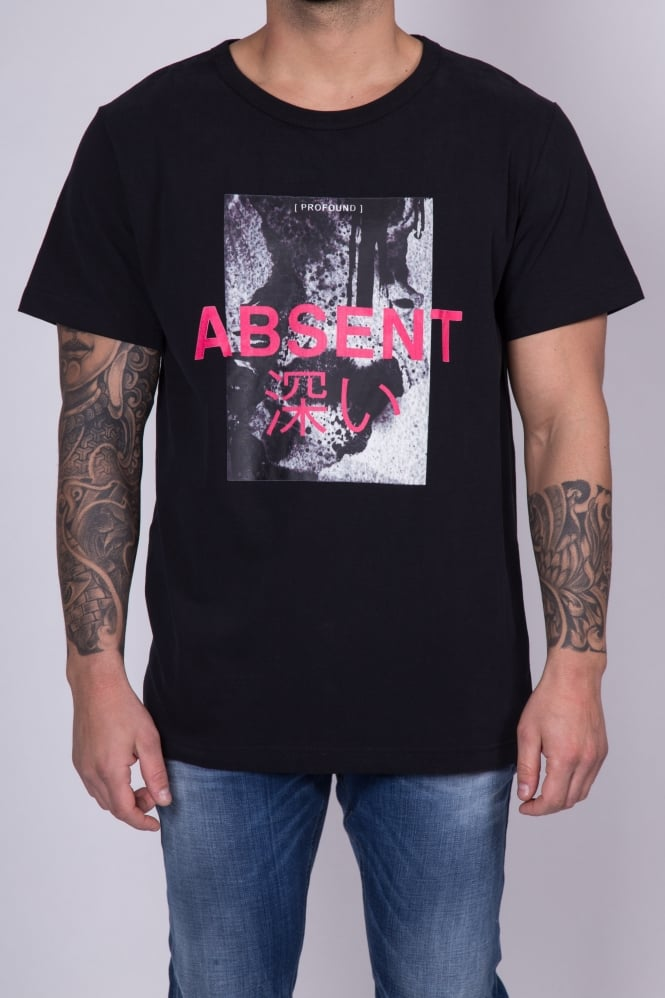 Profound Aesthetic Absent Printed T-Shirt Black