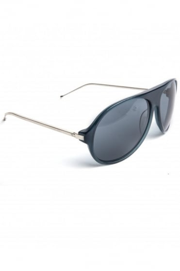Acetate Aviator Sunglasses Blue