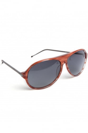 Acetate Aviator Sunglasses Burgundy