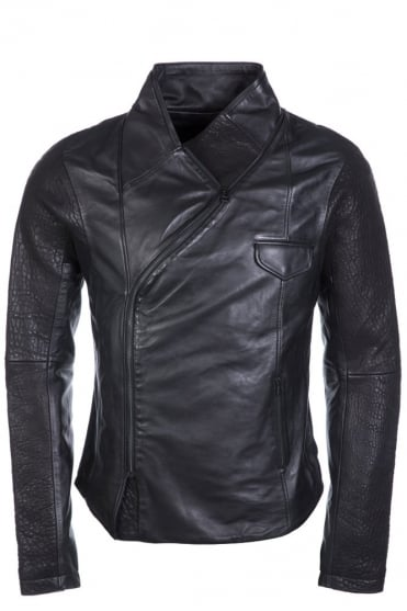 Pellet Leather Jacket Black