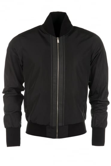 Reflect Mesh Bomber Jacket Black