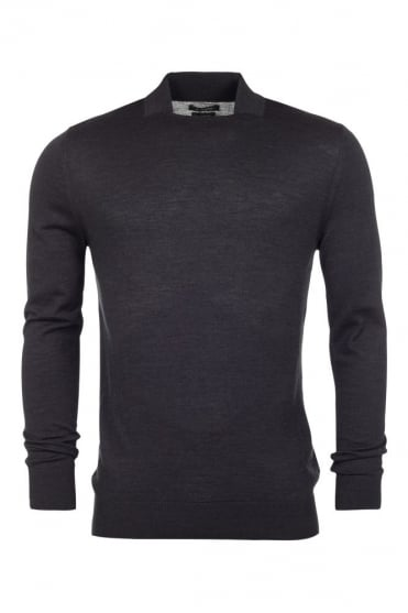 Square Neck Sweater Grey