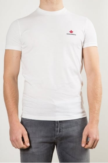 Maple Leaf Crew Neck T-Shirt White
