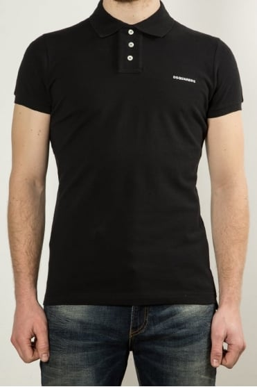 Logo Polo Shirt Black