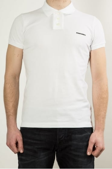 Logo Polo Shirt White