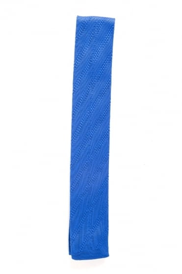 Knitted Tie Blue