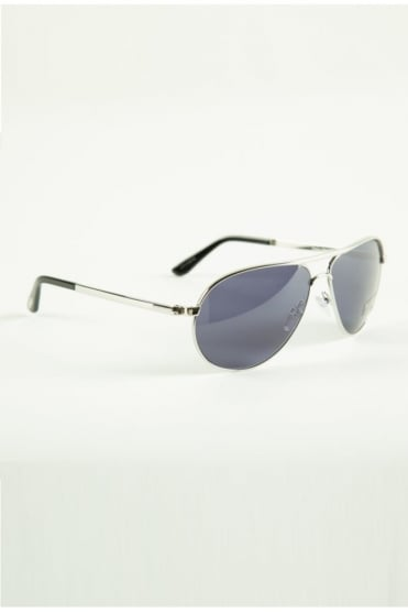 Marko Sunglasses Silver/Blue