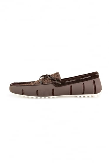 Woven Loafers Brown