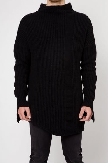 MK38 Knitted Sweater Black