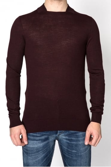 Square Neck Sweater Burgundy