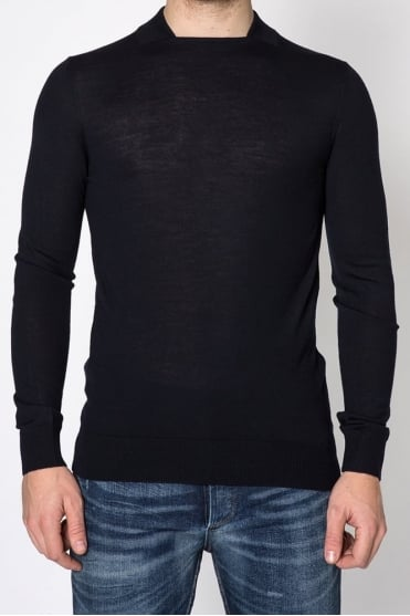 Square Neck Sweater Navy