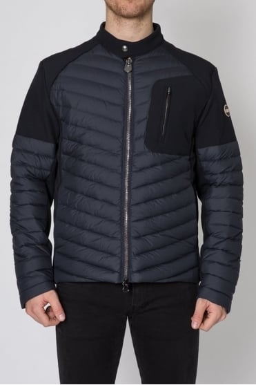 Padded Biker Jacket Navy