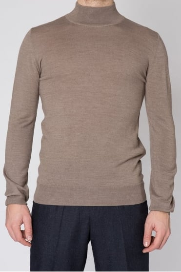 Turtle Neck Sweater Taupe