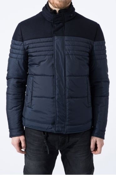 Shoulder Contrast Jacket Navy
