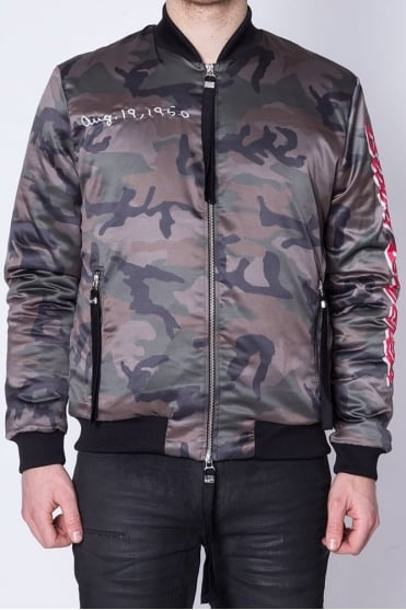 Loyal Camo Bomber Jacket Green