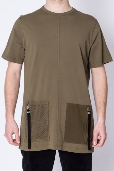 South Longline T-Shirt Khaki