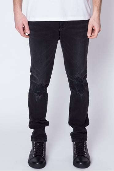 Lion Logo Pocket Jeans Black