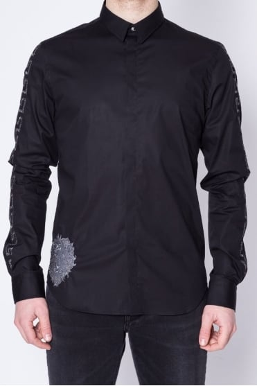 Arm Embroidery Detail Shirt Black