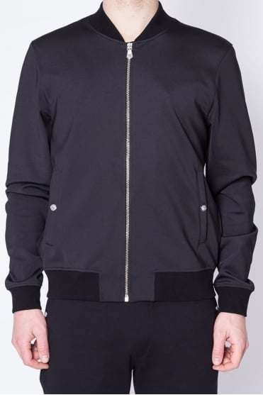 Lion Logo Bomber Jacket Black