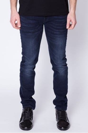 Tye Slim Carrot Fit Jeans Dark Blue