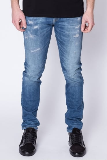 Tye Slim Carrot Fit Jeans Blue