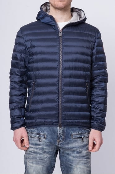 Padded Hooded Jacket Navy