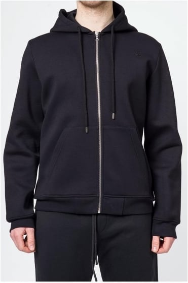 Skulls Zip Up Karl Hoodie Black