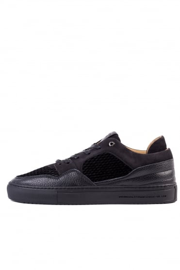 Omega Quilted Velvet Trainers Black